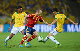 Brazil equaled Spanish number and pressured the ball