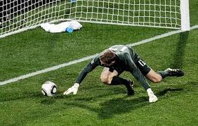 England goalkeeper Robert Green gave up a bad goal to the USA in the 2010 World Cup