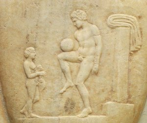 In ancient Greece women minded the children and men played soccer, in much of the world things haven't changed, except clothes