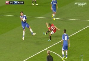The most exciting moment of the Chelsea- Manchester United game