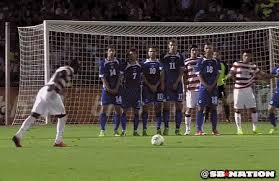 Altidore taking his goal-scoring free kick