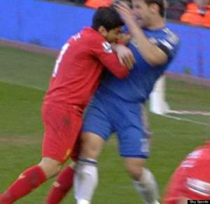 Louis Suarez gets hungry while playing against Chelsea last spring