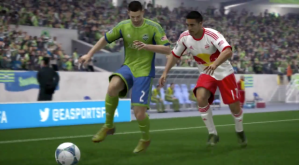 Clint Dempsey competing as a Sounder,,on FIFA 14